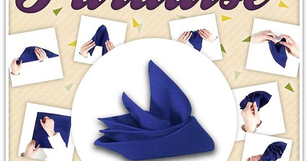 napkin folding with rings instructions