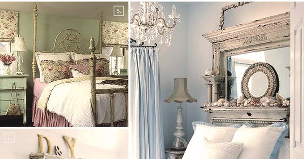 Shabby chic bedroom ideas and decor inspiration chique slaapkamers meubels en shabby chic - Deco keuken chique platteland ...