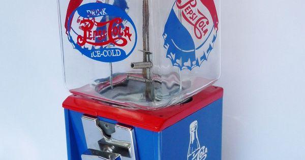 Vintage Northwestern Gumball Machine Pepsi Cola I Love
