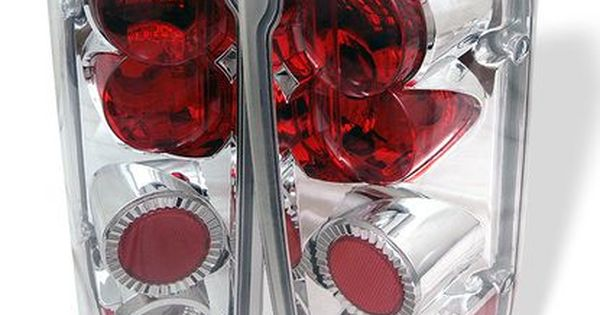 1987 1996 Ford F150 1988 1996 Ford Bronco Euro Style Tail Lights Chrome F150 Tail Light Bronco