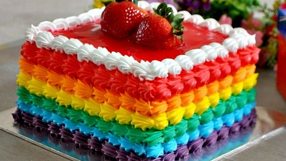 Eggless Jar Cake Recipe: Simple Eggless Rainbow Cake Recipe With Rainbow Frosting