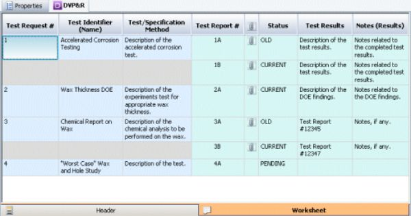 Design Verification Plans And Reports Worksheet Click To Enlarge Dfmea Drbfm Pinterest
