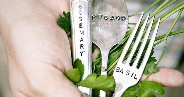 Silverware herb markers