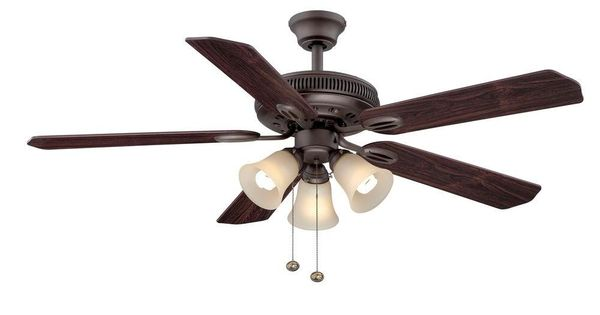 Hampton Bay Glendale 52 Quot Ceiling Fan Oil Rubbed Bronze 5