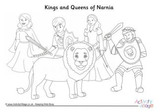 Kings And Queens Of Narnia Colouring Page Narnia Coloring Pages Art Pages