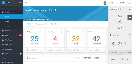 Fuse Angularjs Material Design Admin Template Admin Panel Template Web Panel Website Template