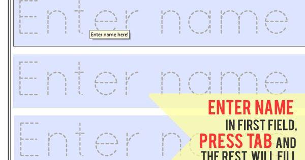 Free Printable Name Tracing Worksheets Free Worksheets Library – Name Worksheets