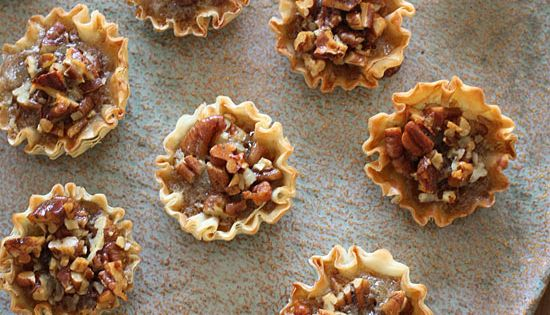Mini Pecan Phyllo Tarts - Traditional pecan pie can set you back