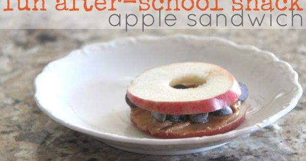 After-school apple sandwich AppleSandwich KidsSnack HealthySnack