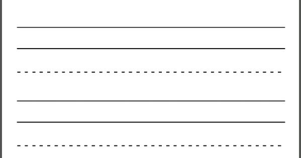 large dashed writing lines printable sentence strips sheet