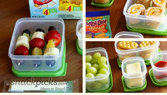 Some cute, simple ideas for kids school lunch.