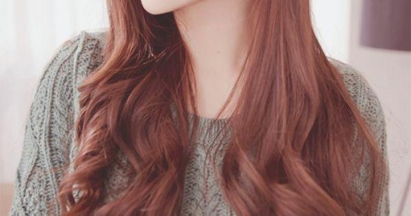 Korean Red Brown Natural Hair Lover Korean Hair Color Hair Color Orange Brown Hair Korean