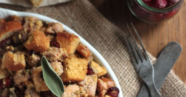 Cranberry Cornbread Stuffing with Smoked Oysters and ...
