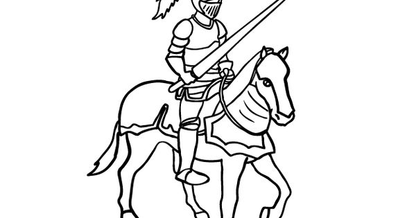 Knights And Dragons Coloring Pages
