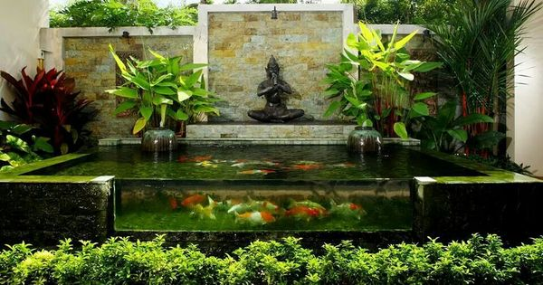 Estanque decoraci n exterior pinterest koi and water for Garden state koi