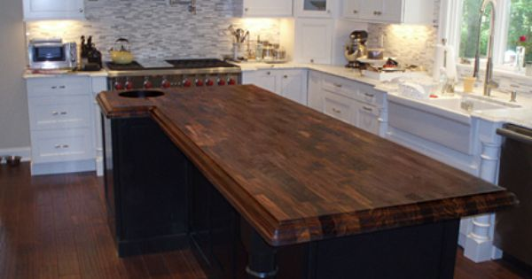 Walnut Eco Pro Kitchen Island Standard Sizes Are Available To Ship Within One Week All Tops Can Be Customized For Size Wood Countertops Countertops Kitchen