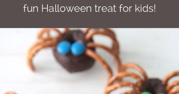 love these mini donut spiders! super easy and fun treat to make