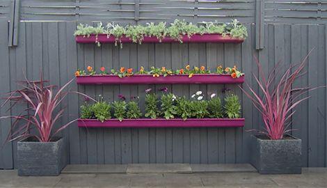 Pink Purple Fuschia Diy Fence Planter Gutter Gutter Garden Fence Planters Diy Fence