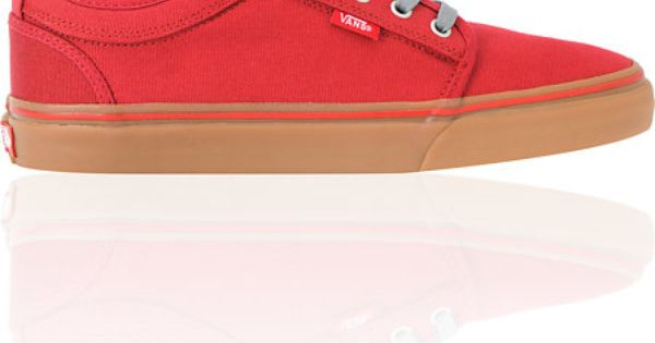vans chukka low scarlet canvas gum skate shoes vans