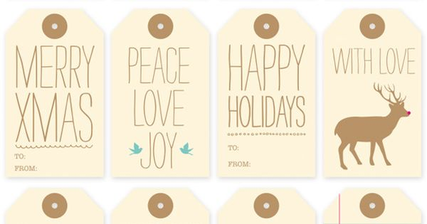 FREE PRINTABLE: HOLIDAY GIFT TAGS Holiday Roundup: Awesome Free Gift Tag Printables