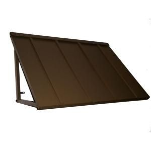 Beauty Mark 5 Ft Houstonian Metal Standing Seam Awning 24 In H X 24 In D In Bronze H22 5brz Metal Awning Metal Buildings Aluminum Awnings