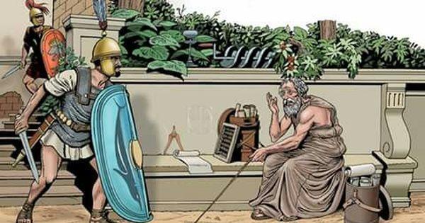 Muerte De Arquímedes 212 A C ángel Todaro Arquímedes El Gran Matemático Griego Murió Grecia Antigua Soldados Romanos Guerras Púnicas