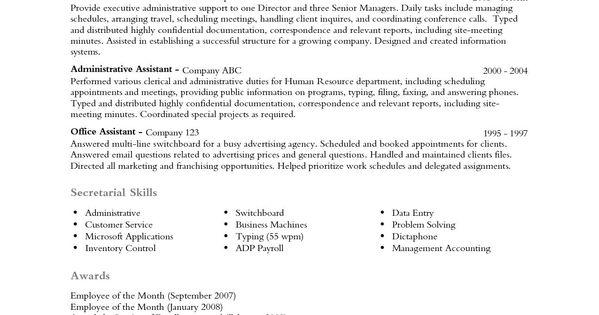 Profile On Resume Examples Informatica