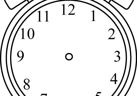 Black and White Alarm Clock without Hands   Fonts, fonts ...