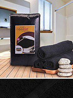 Salon Towels Wholesale Cotton Bleach Proof Salon Towels 24 Pack Black 16x27 Inches Bleach Safe Gym Hand Towel