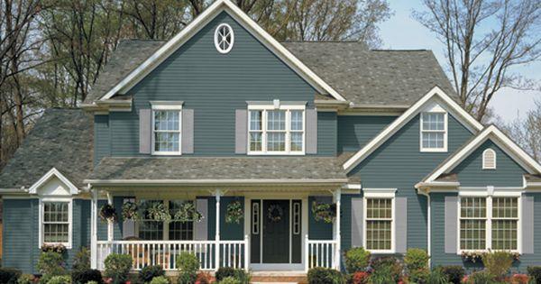 Cute siding color house ideas pinterest black for Norman rockwell siding