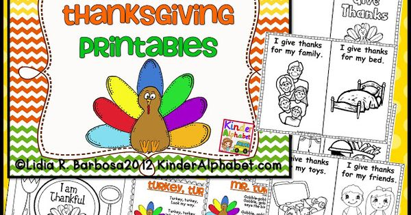 free Thanksgiving book printable