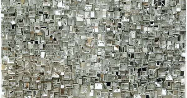 Detail of reflection 3 - paper sculpture by Katsumi Hayakawa, Japan. texture.