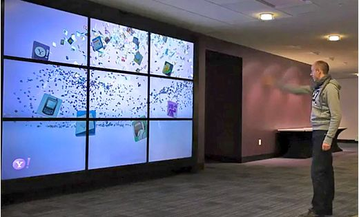 An Interactive Video Wall At Yahoo S Campus That Has Nine