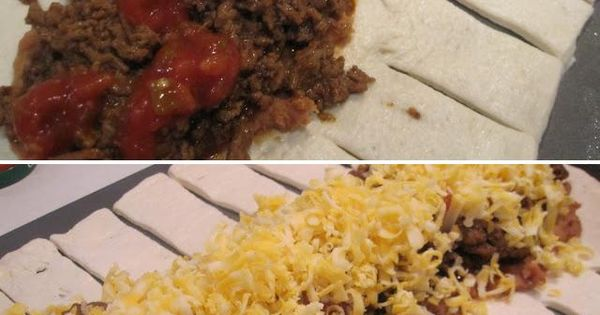 Taco braid, but you can use this process for almost anything. Pizza