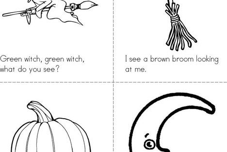 Green witch, green witch, what do you see? Book from TwistyNoodle.com : Halloween Coloring Pages ...