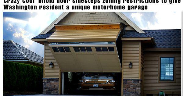 Regular look garage door opens to 12 ft wide with a for How tall is a garage door