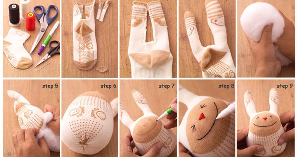 Sock Bunny by luoyingSha Sock Toy Bunny