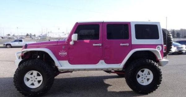 Pink Jeep Wrangler Unlimited Rubicon X 2008 Pink Jeep Wrangler 4wd 4dr Unlimited Rubicon Pink And White Jeep Purple Jeep Jeep Pink Jeep