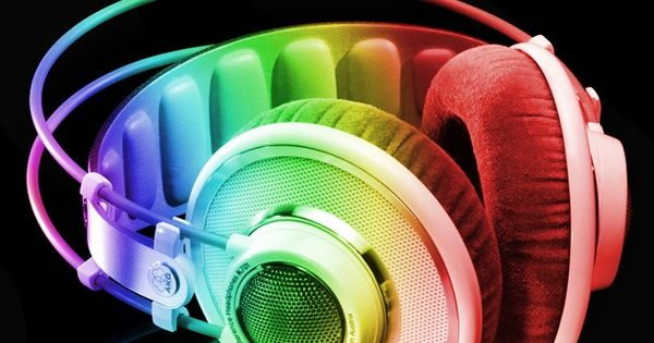 rainbow color headphone