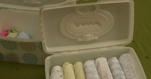 Cloth wipes storage idea