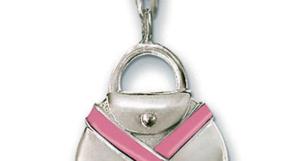 Thomas Sabo Charity Pink Ribbon Charm Sterling Silver Pink Ribbon Charm Pink Ribbon Thomas Sabo