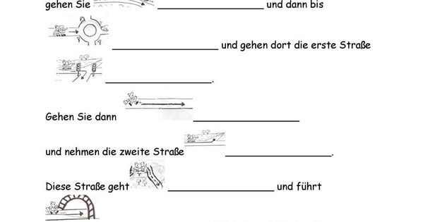 wegbeschreibung test deutsch deutsch lernen und schule. Black Bedroom Furniture Sets. Home Design Ideas