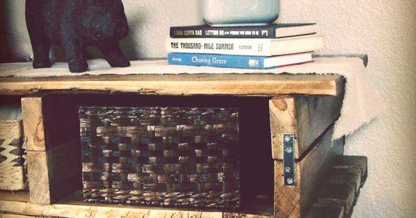 Des palettes en bois pour fabriquer une commode meuble palette pinterest bricolage - Fabriquer une commode en bois ...