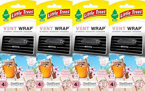 Little Trees Vent Wrap Air Freshener Cherry Blossom Honey 4 Packs Of 4 Little Trees Vent Wrap Is A New Approach Car Air Freshener Air Freshener Freshener
