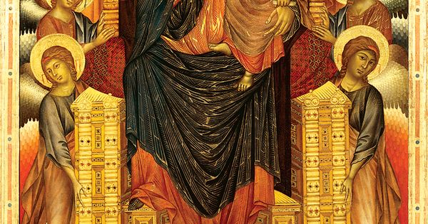 madonna enthroned cimabue