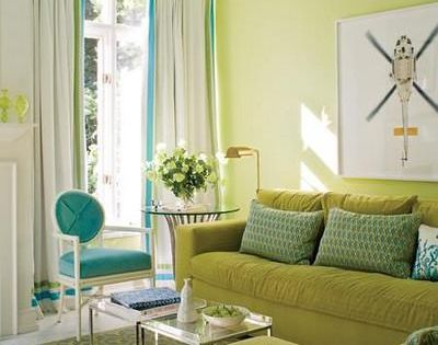 Timothy Mathergreen Walls With Turquoise Blue Ceiling
