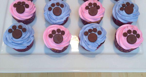 Dog Paw Print Cupcakes Cake Decorating Pinterest Dog