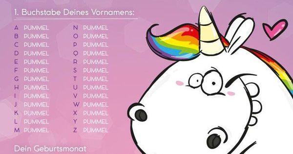 Wie lautet dein Einhorn Name ? | Pummeleinhorn | Pinterest ...