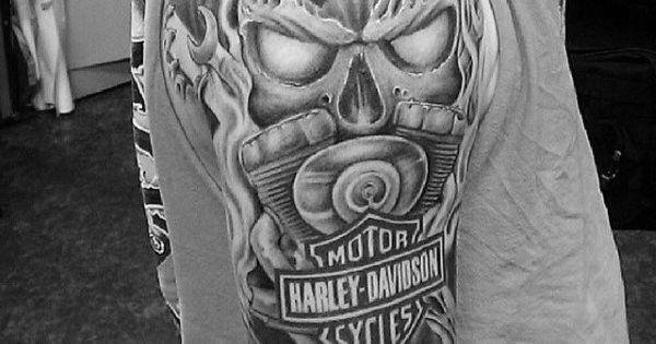 Full Sleeve Guys Harley Davidson Tattoos Designs Tattoo Pinterest Harley Davidson Tattoos