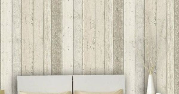 Reclaimed Wood Panel Effect Faux Wallpaper